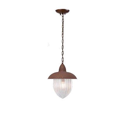 Pendente MadeLustre 2581/89 Veneza Estilo Antigo Rustico Metal de Fundição Ambar 1 Lamp. 1m Sala de Jantar Quarto e Cozinha