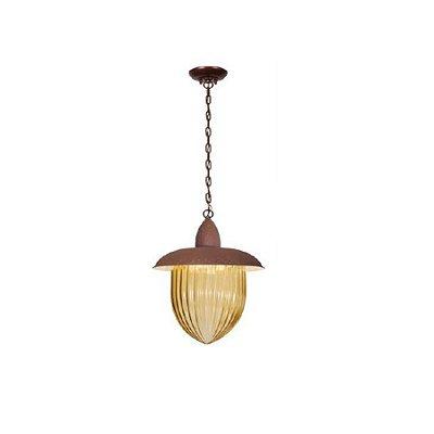Pendente MadeLustre 2582/89 Veneza Estilo Antigo Rustico Metal de Fundição Ambar 3 Lamp. 1m Sala de Jantar Quarto e Cozinha