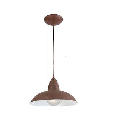 Pendente MadeLustre 2653 Turim Estilo Antigo Rustico Metal de Fundição Pequeno Cordão Tecido Sala de Jantar Quarto e Cozinha