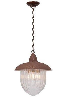 Pendente Madelustre Rústico Metal Envelhecido envelecido Vidro Cristal 3 Lamp. 1m Veneza E-27 2582.94   Sala de Jantar Quarto e Cozinha