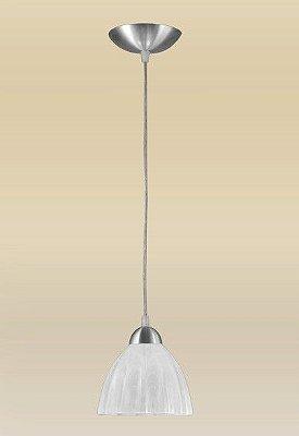 Pendente Madelustre Vertical Alumínio Escovado Cúpula Vidro Fosco Cabo Regulável Ø18cm Vesuvio E-27 2069-1   Sala de Jantar Quarto e Cozinha