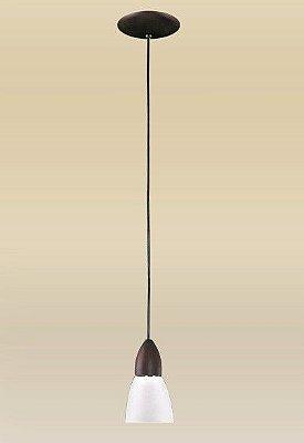 Pendente Madelustre Vertical Rústico Madeira Maciça Cúpula Tulipa Vidro Leitoso Ø10cm Lumi  E-27 1608 Cozinhas e Hall