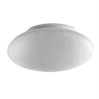 Plafon MadeLustre 2090/64 Ambience Redondo Ø 40cm 2 Lamp. Vidro Leite Sobrepor Sala Quarto e Cozinha