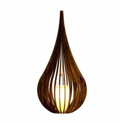 Abajur Accord Iluminação Capadócia Cristal Cônico Madeira Natural 80x38cm 1x E27 110v 220v Bivolt 7021 Sala Estar Quartos