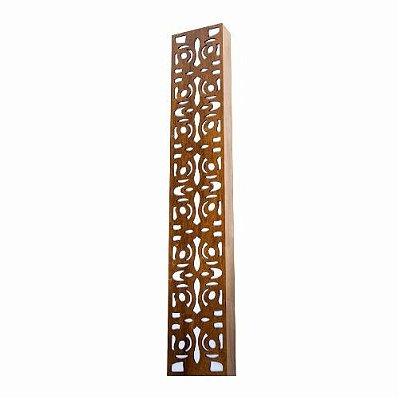 Arandela Accord Iluminação Arabesco Linear Retangular Madeira Natural 30x15cm 4x E27 110v 220v Bivolt 457 Sala Estar Entradas