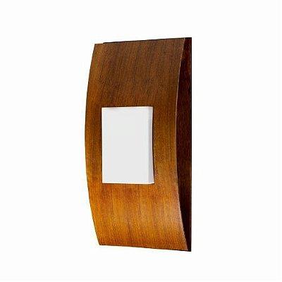 Arandela Accord Iluminação Barca Cilindro Linear Madeira Natural 43x20cm 1x G9 Halopin LED 451 Sala Estar Quartos