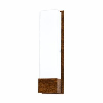 Arandela Accord Iluminação Clean Cachepô Linear Acrílico Madeira Natural 47x13cm 2x E27 110v 220v Bivolt 465 Sala Estar Entradas