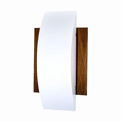 Arandela Accord Iluminação Clean Clássica Linear Madeira Natural 46x26cm 2x E27 110v 220v Bivolt 429 Sala Estar Corredores