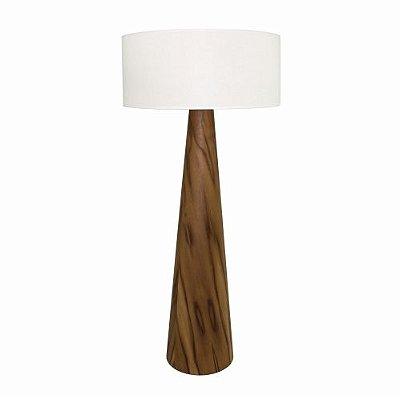 Coluna Accord Iluminação Cônica Linear Cupula Redonda Madeira Natural 161x70cm 1x E27 110v 220v Bivolt 3004 Sala Estar Quartos