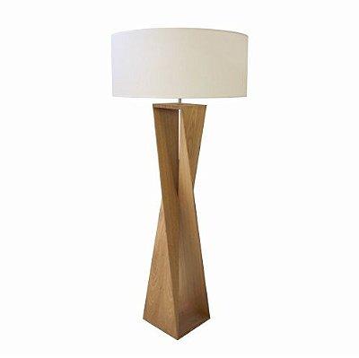 Coluna Accord Iluminação Spin Moderna Linear Cupula Madeira Natural 169x70cm 1x E27 110v 220v Bivolt 3029 Sala Estar Quartos