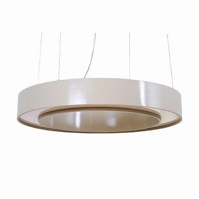 Pendente Accord Iluminação Anel Cilindro Redondo Acrílico Madeira Natural 12x80cm Fita LED 6W 1221 Mesa Jantar Quartos