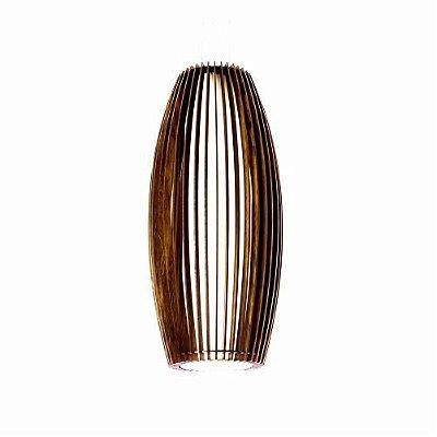 Pendente Accord Iluminação Stecche Di Legno Oval Madeira Natural 70x30cm 1x E27 110v 220v Bivolt 1139 Sala Estar Hall