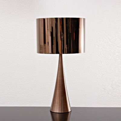 Abajur Bella Iluminação Acetato Metal Bronze Cupula Redonda 66x35cm 1 E27 110v 220v Bivolt MH0703B Cabeceira Cama Mesa Jantar