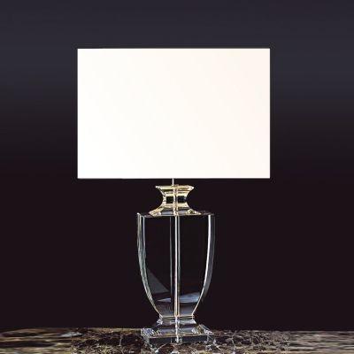 Abajur Bella Iluminação Classic Vidro Metal Cromo Cupula Ø43cm 1 E27 110v 220v Bivolt XL1121 Cabeceira Cama Criados Mudos