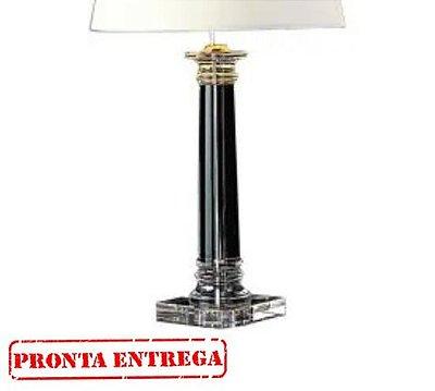 Pronta Entrega / Abajur Bella Iluminação Classic Vidro Metal Cromo Cupula Ø45cm 1 E27 110v 220v Bivolt XL1206 Cabeceira Cama Criados Mudos