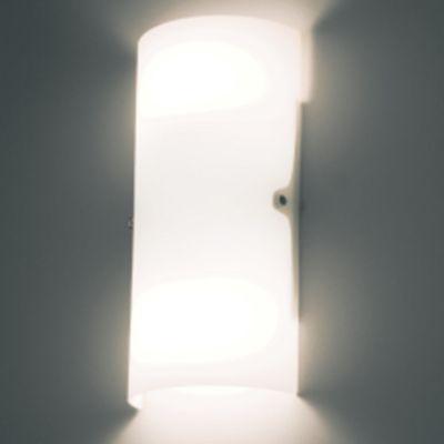 Arandela Bella Iluminação Bath Tubo Aço Cromo Vidro Branco 33x15cm 2 E27 40W 110v 220v Bivolt VT2028G Sala Estar Quartos
