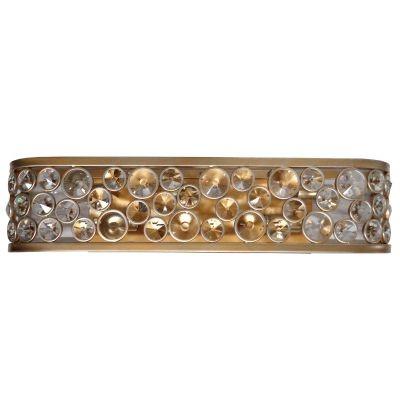 Arandela Bella Iluminação Champ Metal Ouro Velho Cristal K9 10x14,5cm 5 E14 40W 110v 220v Bivolt MR003 Corredores Saguão