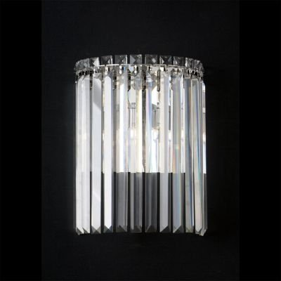 Arandela Bella Iluminação Charm Metal Cristal K9 Translucido 33x25cm 2 G9 Halopin 110v 220v Bivolt HU5023 Corredores Sala Estar