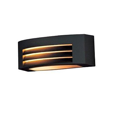 Arandela Bella Iluminação Externa Ali Horizontal Metal Preto 13x29cm 1 E27 110v 220v Bivolt LX5491B Jardins Muros