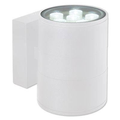 Arandela Bella Iluminação Externa Block Metal Branco 14,5x11cm 1 LED 12W 110v 220v Bivolt LX1042W Muros Jardins
