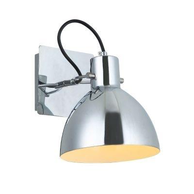 Arandela Bella Iluminação Haus Sino Regulavel Metal Cromo 19x16cm 1 E27 40W 110v 220v Bivolt OP052CR Escritórios Mesa Jantar
