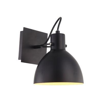 Arandela Bella Iluminação Haus Sino Regulavel Metal Preto 19x16cm 1 E27 40W 110v 220v Bivolt OP052B Escritórios Mesa Jantar