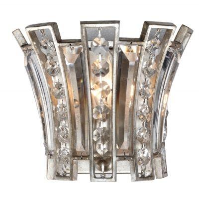 Arandela Bella Iluminação Jazz Cristal K9 Metal Envelhecido 19x23cm 1 E14 110v 220v Bivolt AS008 Corredores Saguão