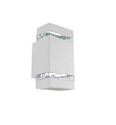 Arandela Bella Iluminação LED Metal Retangular Branca 10,5x11cm 1 LED 8W LX1064W Corredores Saguão