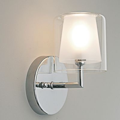 Arandela Bella Iluminação Maison Metal Cromo Cupula Vidro 20x12cm 1 G9 Halopin MO0016 Sala Estar Hall