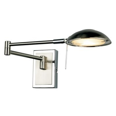 Arandela Bella Iluminação Mira Articulada Metal Aço Cromo 8,5x53cm 1 G9 Halopin LI0762W Corredores Quartos