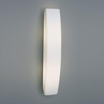 Arandela Bella Iluminação Moon Linear Vidro Branco Aço 61x10cm 2 E27 110v 220v Bivolt ZD2859 Corredores Cozinhas
