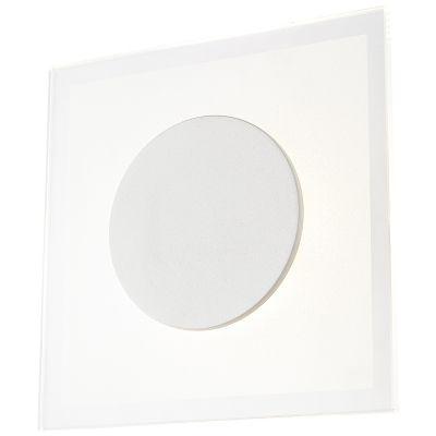 Arandela Bella Pip Quadrada Metal Vidro Fosco 4x20cm  1 LED 8W Bivolt MG013 Corredores e Entradas