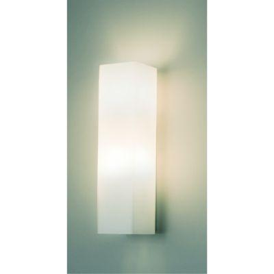 Arandela Bella Iluminação Ret Fade Linear Aço Vidro Branco 36x11cm 2 E27 110v 220v Bivolt VT3113 Corredores Quartos