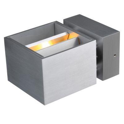 Arandela Bella Iluminação Sobrepor Flap Cubico Metal Cinza 12x7cm 1 G9 Halopin 110v 220v Bivolt LZ027A Escritórios Sala Estar