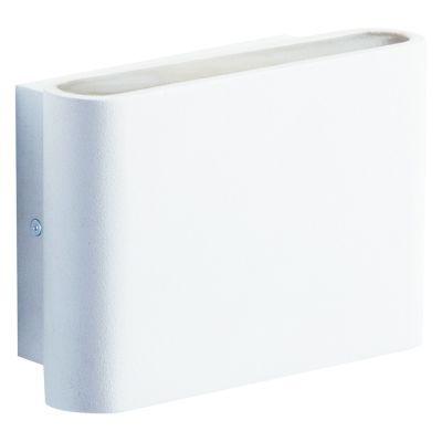 Arandela Bella Iluminação Sobrepor Pad Quadrado LED Metal Branco 4x11cm 1 LED 3W LZ010 Corredores Quartos