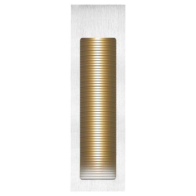 Balizador Bella Embutido Risca Ret LED Alumínio 5,6x18,4cm  1 LED 3W Bivolt NS1016 Cozinhas e Lavabos