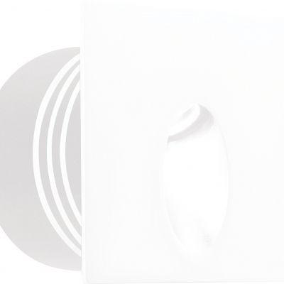Balizador Bella Iluminação Interno Punt LED Embutir Quadrado 6x8cm 1 LED 3W 110v 220v Bivolt LX1274 Lavabos Quartos