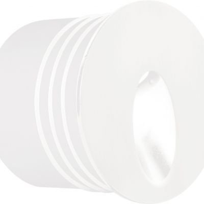 Balizador Bella Iluminação Interno Punt LED Embutir Redondo 6x8cm 1 LED 3W 110v 220v Bivolt LX1273 Lavabos Quartos