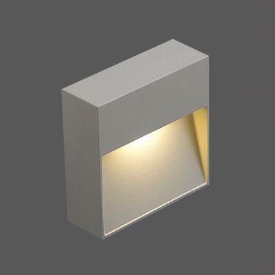 Balizador Bella LED Quadrado Alumínio Sobrepor Branco 3,4x10,2cm  1 LED Bivolt NS1038S Quartos e Lavabos