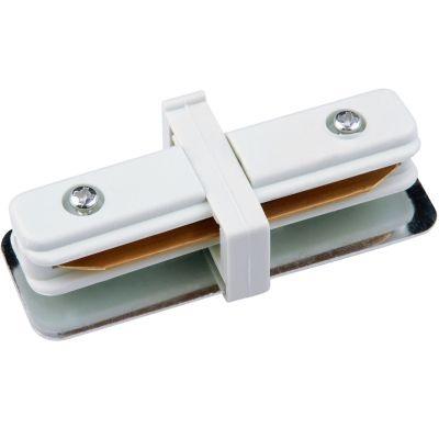 Conector Bella Iluminação Reto para Trilho Metal Branco DL023B