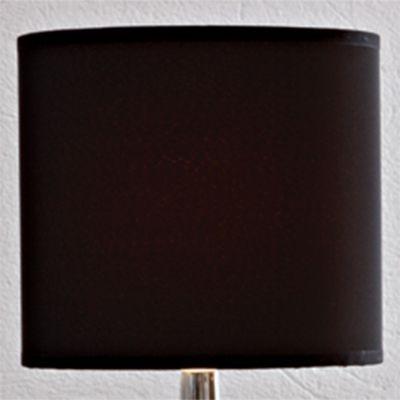 Cupula Bella Iluminação Cilindrica Tecido Preto 18x20cm EX760PT Abajur