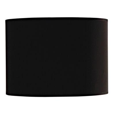 Cupula Bella Iluminação Cilindrica Tecido Preto 22x31cm EX1315PT Abajur