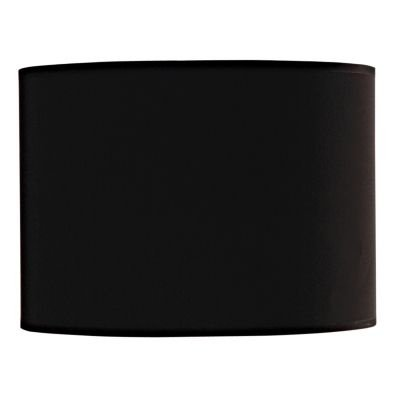 Cupula Bella Cilindrica Tecido Preto 22x31cm  EX1315PT Abajur