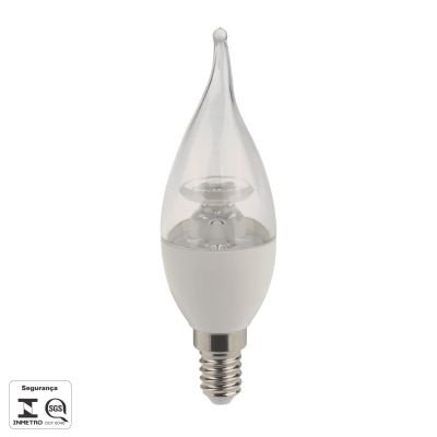 Lampada Bella Iluminação LED E14 Vela 4,5W Chama Branca 110v 220v Bivolt LP017TC