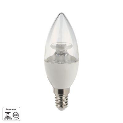 Lampada Bella Iluminação LED E14 Vela 4,5W Lisa Branca 110v 220v Bivolt LP016TC