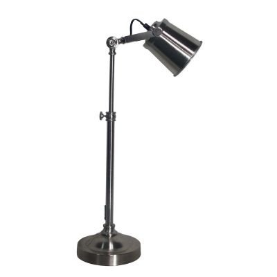 Luminária Bella Iluminação de Mesa Articulada Metal Cromo 55x43cm 1 E27 110v 220v Bivolt LU012 Mesa Jantar  Escritórios