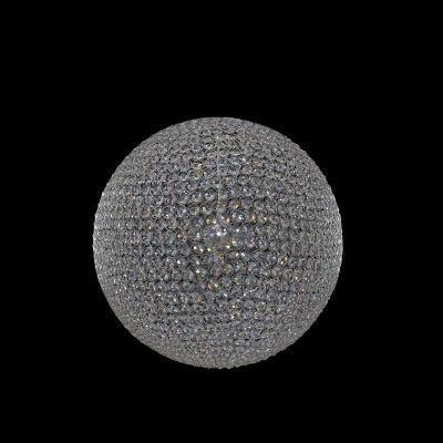 Lustre Bella Iluminação Tribeca Esfera Cromo Cristal K9 60x60cm 8 E14 40W 110v 220v Bivolt AQ010L Sala Estar Saguão