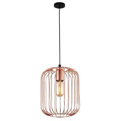 Pendente Bella Iluminação Aramado Fill Suspenso Metal Cobre 25,5x20cm 1 E27 40W PD013A Corredores Cozinhas