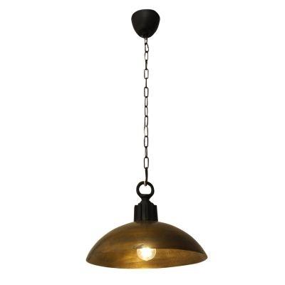 Pendente Bella Iluminação Balia 1/2 Esfera Metal Ouro Velho 27x37cm 1 E27 110v 220v Bivolt PEI0004BO Balcões Cozinhas