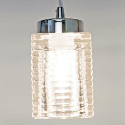 Pendente Bella Iluminação Bell Tubo Metal Cromo Vidro 10x7,5cm 1 G9 Halopin 110v 220v Bivolt VT2041P Sala Estar Cozinhas